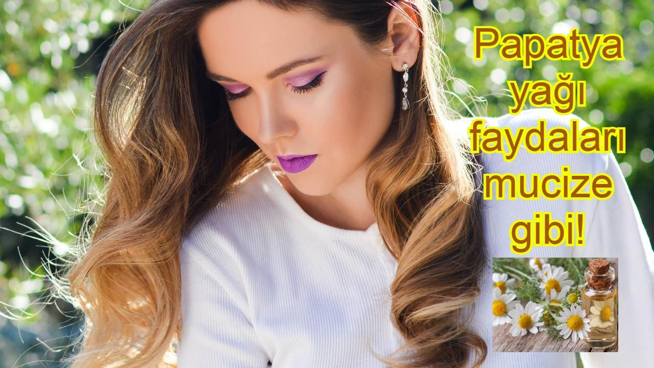 Papatya yağı faydaları 2 alanda çok etkili! Hem cilde hem saça parlaklık veriyor!